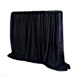 Pipe & Drape Black