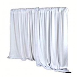 Pipe & Drape White