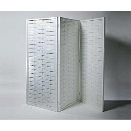 White Lattice 3 Paneled Screen