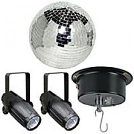 Mirror Ball with Spot Lights Party Rentals