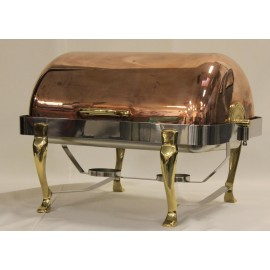 Roll Top Copper Chafing Dish