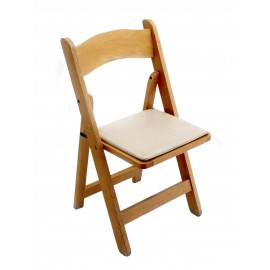 Light Wood Chair Padded