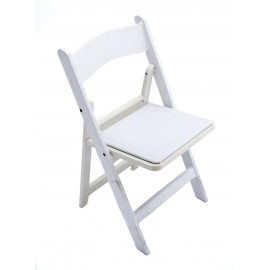White Wood Chair Padded