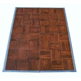 Dance Floor 3' x 4' Dark Oak Parquet Panels