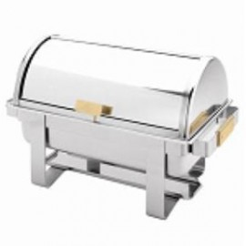 8 Qt. Roll Top Gold Handle Chafer