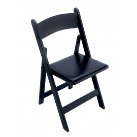 Black Wood Chair Padded