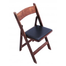 Dark Wood Chair Padded